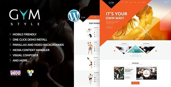 Tema Gym Fitness Club - Template WordPress