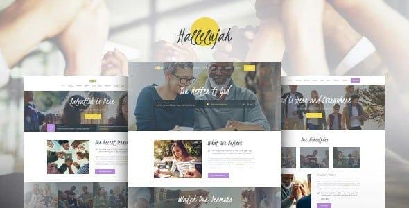 Tema Hallelujah - Template WordPress