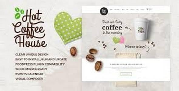 Tema Hot Coffee - Template WordPress