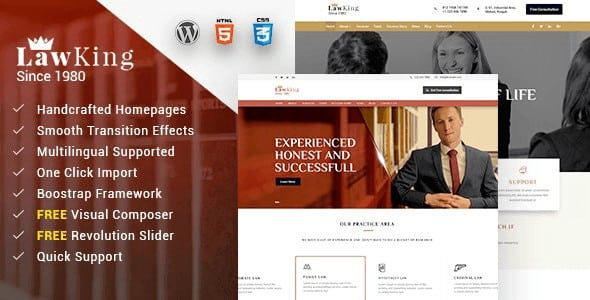 Tema Lawking - Template WordPress