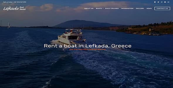 Tema Lefkada - Template WordPress