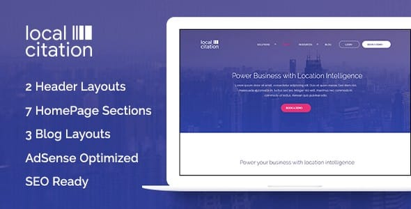 Tema Local Citation - Template WordPress