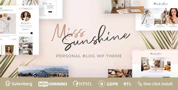 Tema Miss Sunshine - Template WordPress
