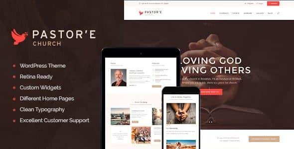 Tema Pastore - Template WordPress