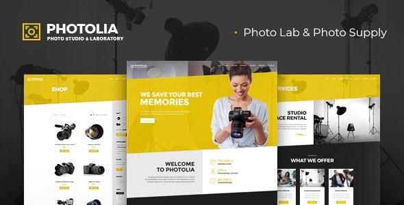 Tema Photolia - Template WordPress