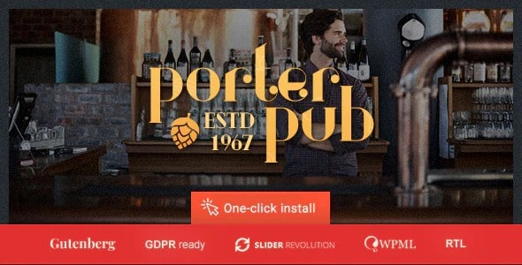 Tema Porter Pub - Template WordPress