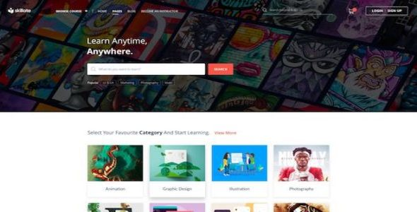 Tema Skillate - TEmplate WordPress