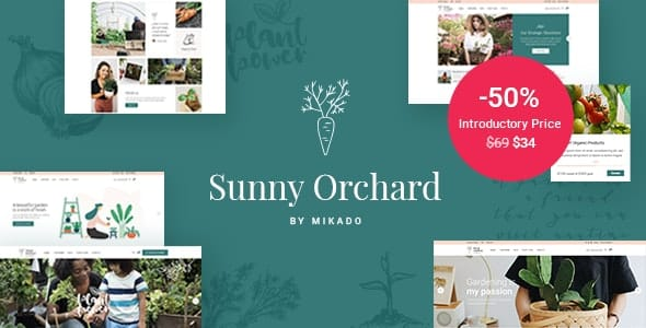 Tema SunnyOrchard - Template WordPress