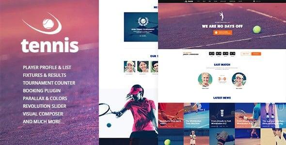 Tema Tennis - Template WordPress