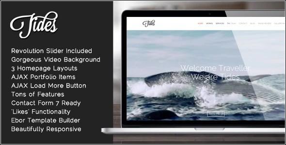 Tema Tides - Template WordPress
