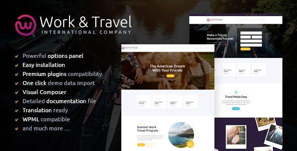 Tema Work Travel - Template WordPress