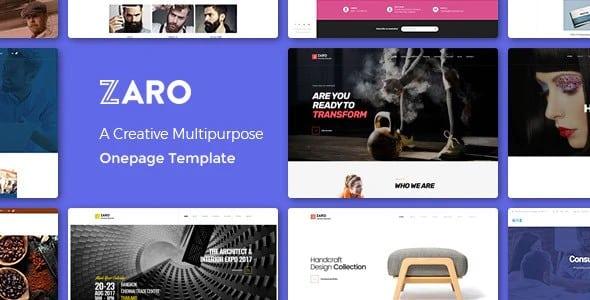 Tema Zaro - Template WordPress