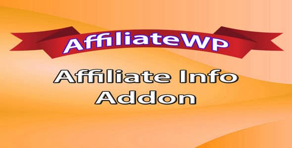 Plugin AffiliateWp Affiliate Info - WordPress