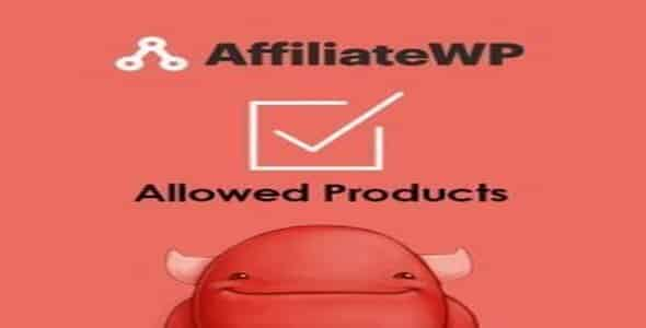 Plugin AffiliateWp Allowed Products - WordPress