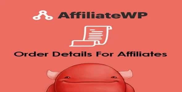 Plugin AffiliateWp Order Details For Affiliates - WordPress
