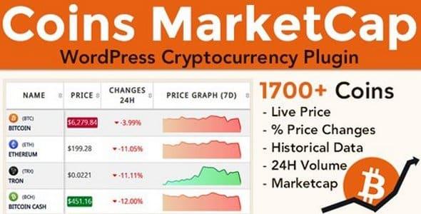 Plugin Coins MarketCap - WordPress