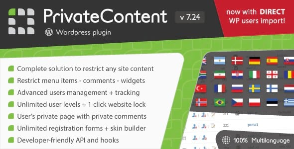 Plugin PrivateContent - WordPress
