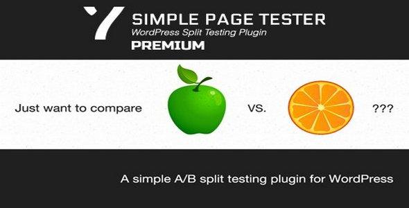 Plugin Simple Page Tester Premium - WordPress