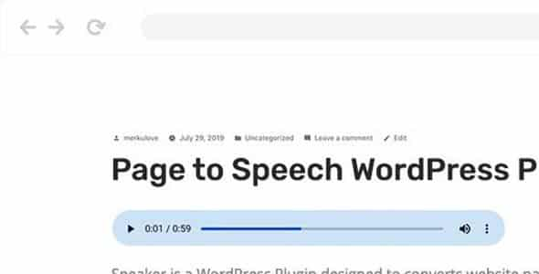 Plugin Speaker - WordPress