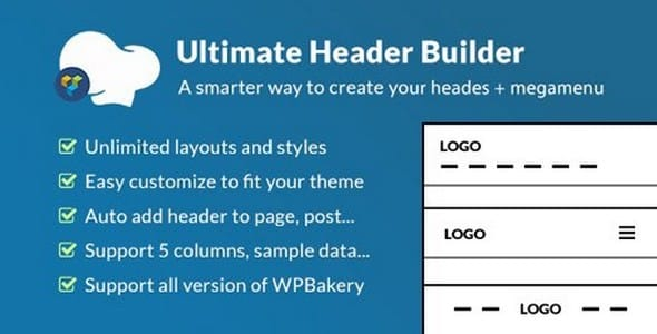 Plugin Ultimate Header Builder for WPBakery Page Builder - WordPress