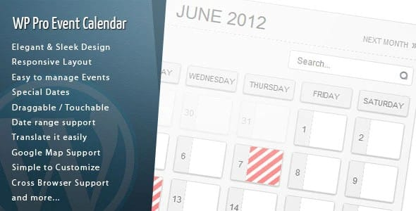 Plugin WordPress Pro Event Calendar - WordPress