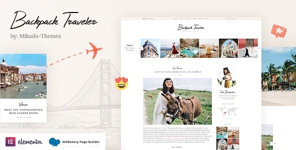 Tema Backpack Traveler - Template WordPress
