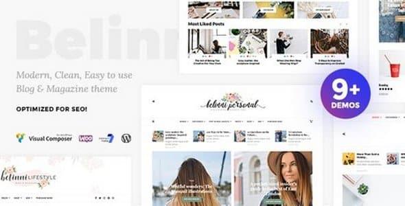 Tema Belinni - Template WordPress