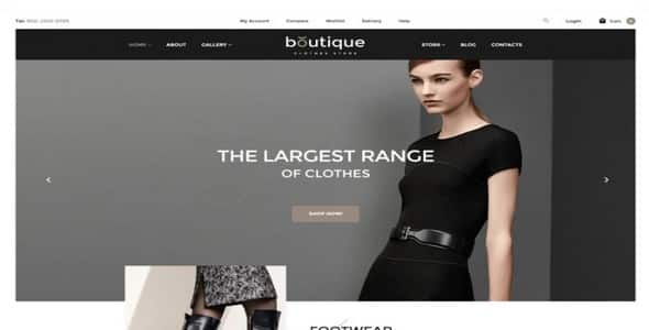 Tema Boutique Zemez - Template WordPress