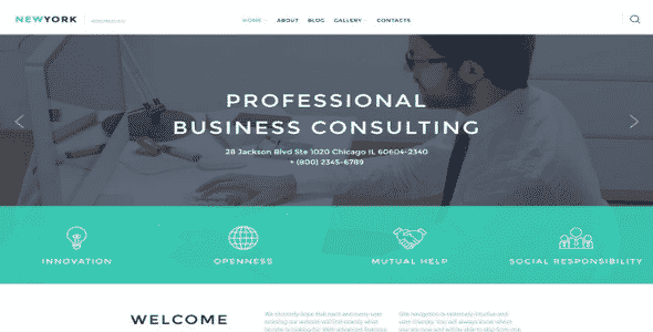 Tema Business Services - Template WordPress