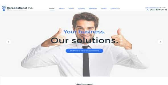 Tema CorpoRational - Template WordPress