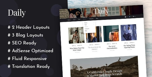 Tema Daily Mythemeshop - Template WordPress