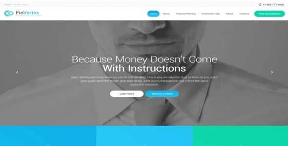 Tema Fin Vertex - Template WordPress