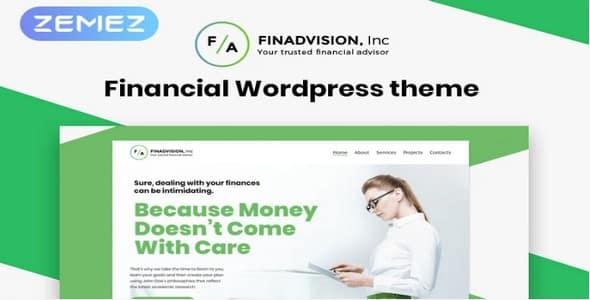 Tema Financial Advisor - WordPress