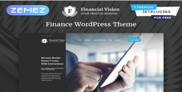 Tema Financial Vision - Template WordPress