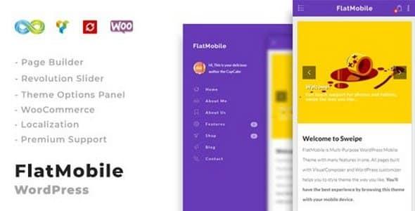 Tema FlatMobile - Template WordPress