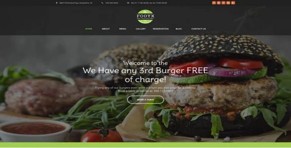 Tema Fooxy - Template WordPress