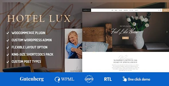 Tema Hotel Lux - Template WordPress