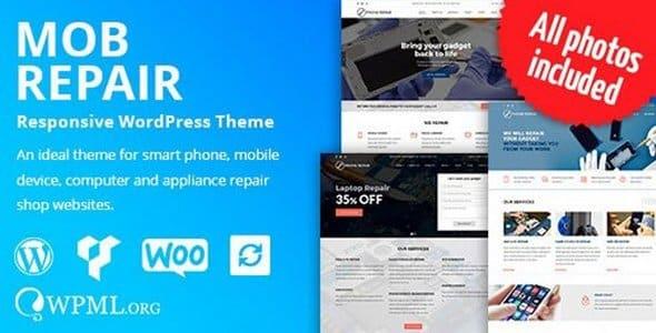 Tema MobRepair - Template WordPress