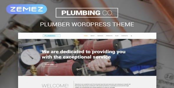 Tema Plumbing Co - Template WordPress