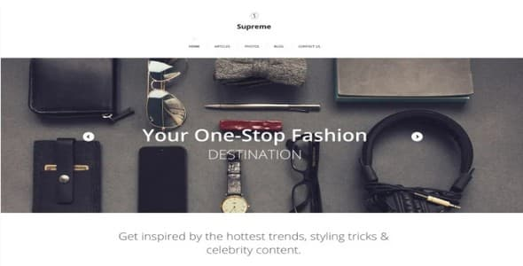 Tema Supreme Zemez - WordPress