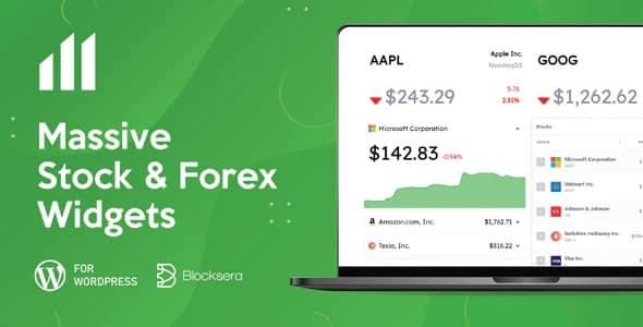 Plugin Massive Stock Market Forex Widgets - WordPress