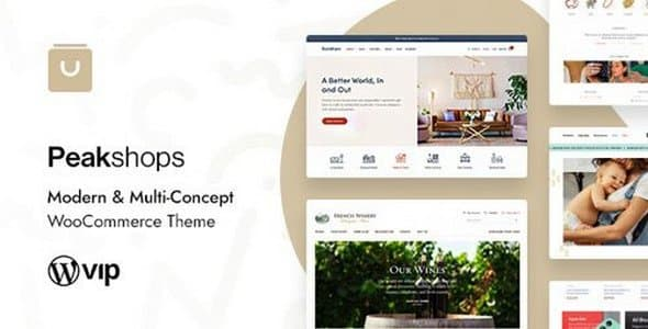 Tema PeakShops - Template WordPress