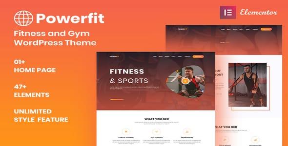 Tema Powerfit - Template WordPress