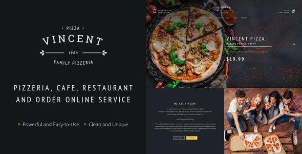 Tema Restaurant Vincent - Template WordPress