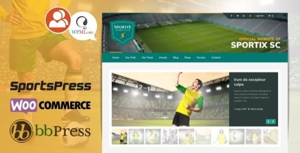 Tema Sportix - Template WordPress