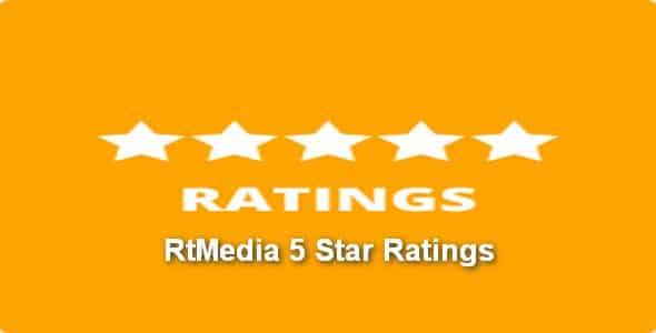 Plugin RtMedia 5 Star Ratings - WordPress