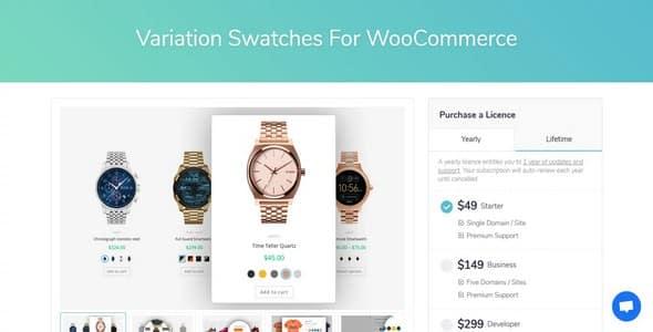 Plugin Variation Swatches For WooCommerce - WordPress