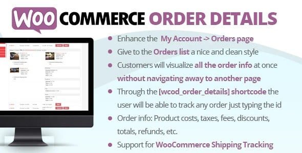 Plugin WooCommerce Order Details - WordPress