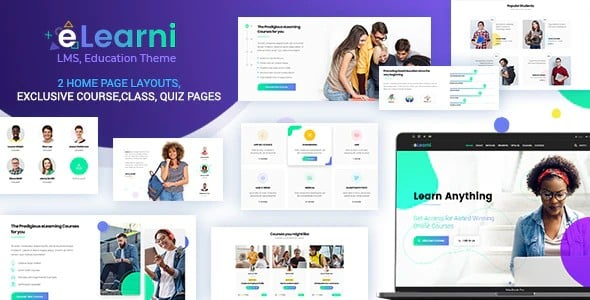 Tema Elearni DesignThemes - Template WordPress