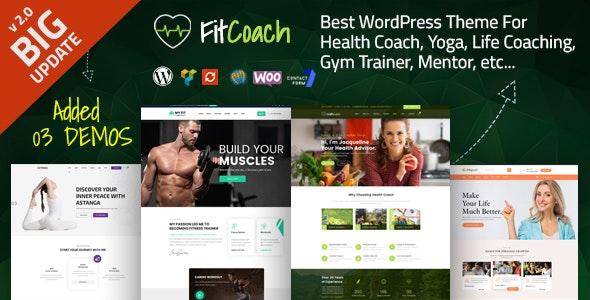 Tema Fit Coach - Template WordPress